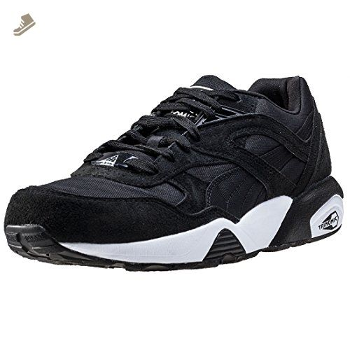 Puma R698 Womens Trainers Black White - 7 UK - Puma sneakers for women (*