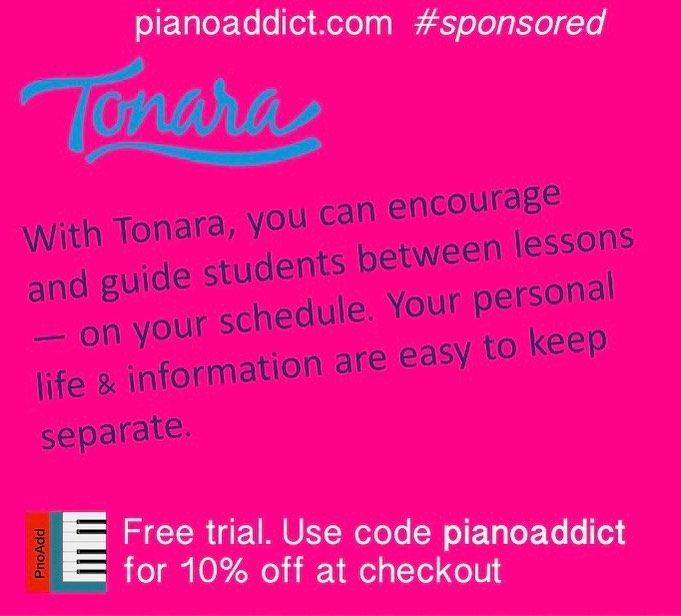 Now 20 Off With Code Pianoaddict Just One Reason Tonara Is My Teaching Assistant Tonara Pnoaddictblog Creativemusicteachers