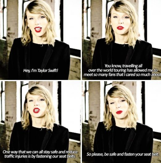 Taylor Swift's Traffic Safety Message