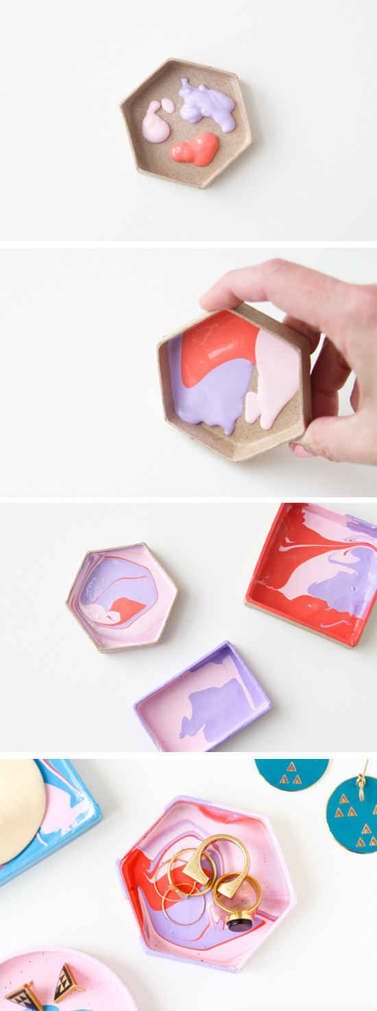 And then make a super-cool jewelry dish to store it in.