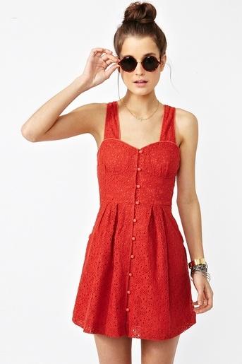 crochet dress Red