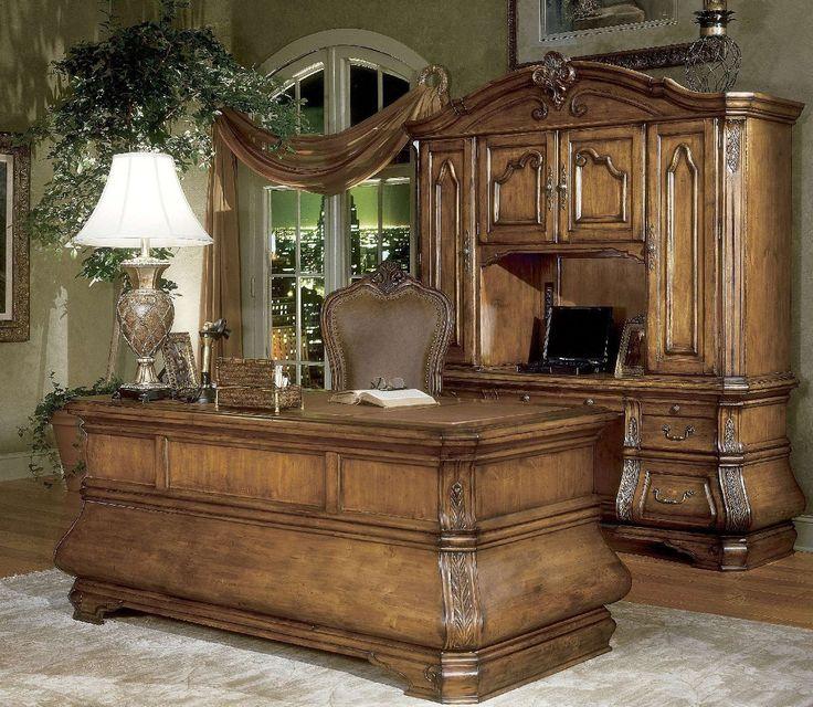 Michael Amini Tuscano Credenza Home Office In Biscotti By
