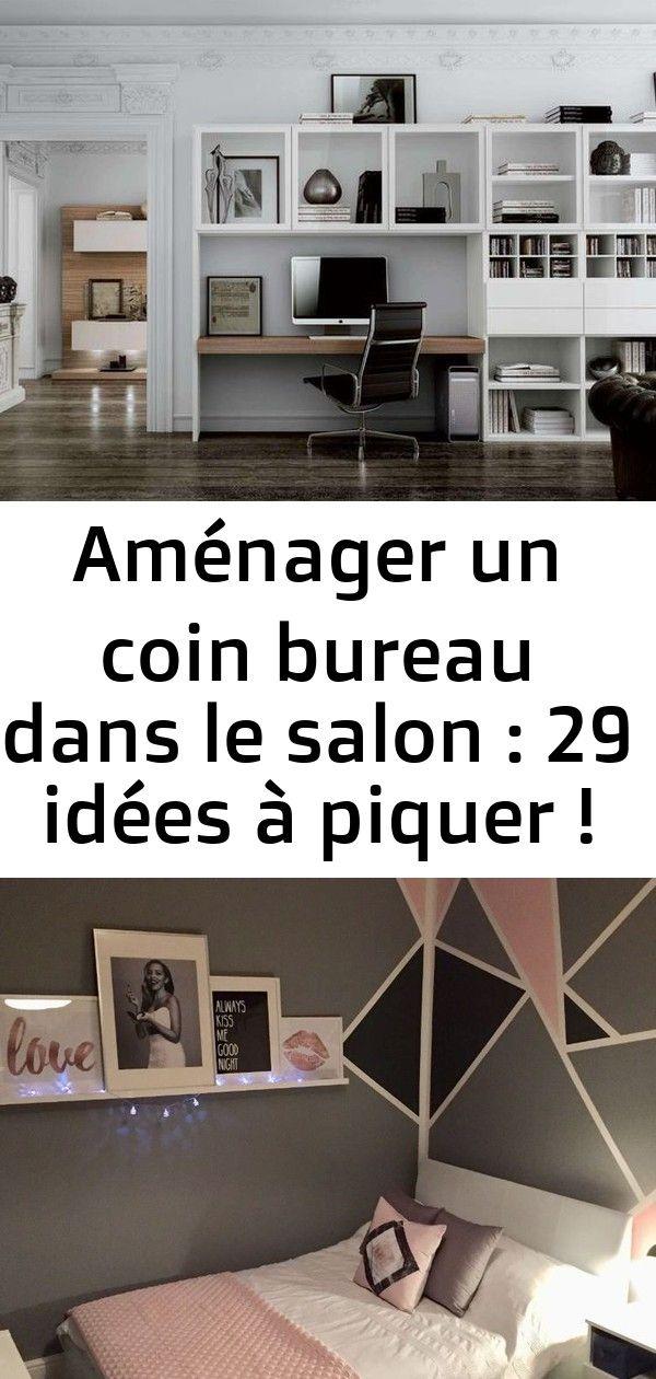 Amenager Un Coin Bureau Dans Le Salon 29 Idees A Piquer Une