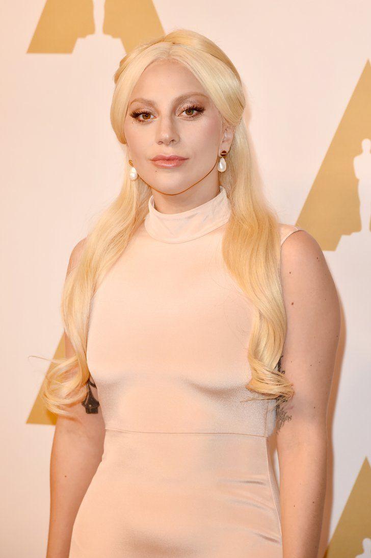 Pin for Later: Lady Gaga, Leonardo DiCaprio et les Autres Nommés Se Rendent au Déjeuner Pré Oscars Lady Gaga