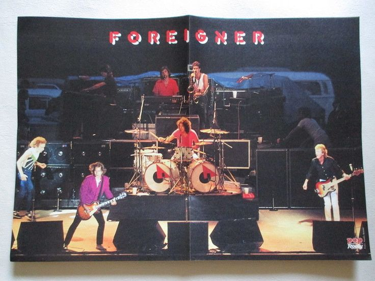 Foreigner Lou Gramm Linda Gray Dallas POSTER Germany 1980s