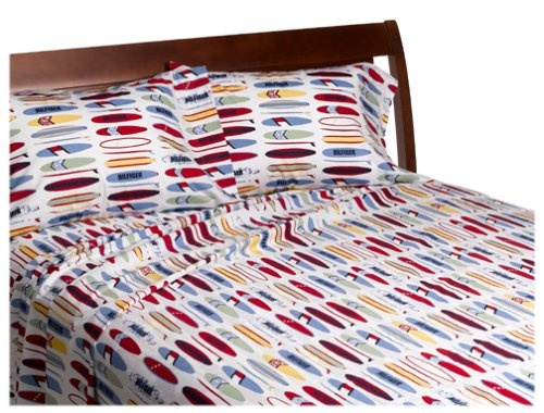 Charming Tommy Hilfiger Surfs Up Print Sheet Set 200 Thread Count Twin Extra Long  Sheet
