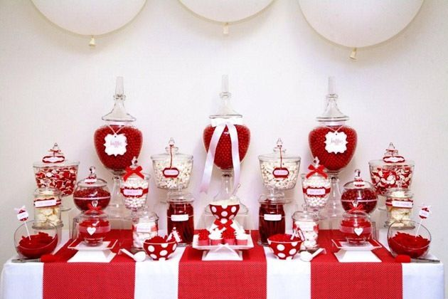 Red and white Lolly buffet