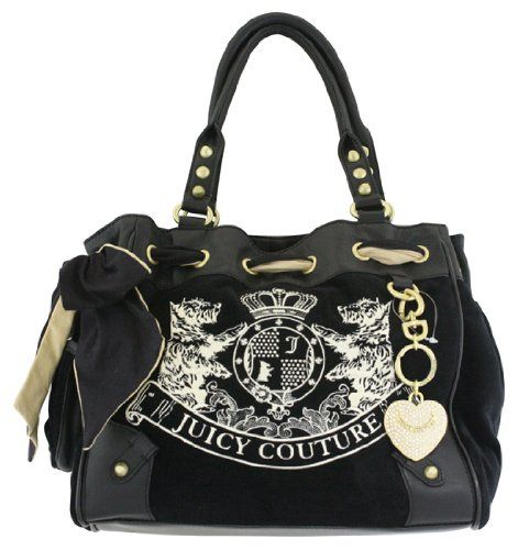 juicy couture scottie embroidery daydreamer tote bag black list price buy new 179. Black Bedroom Furniture Sets. Home Design Ideas