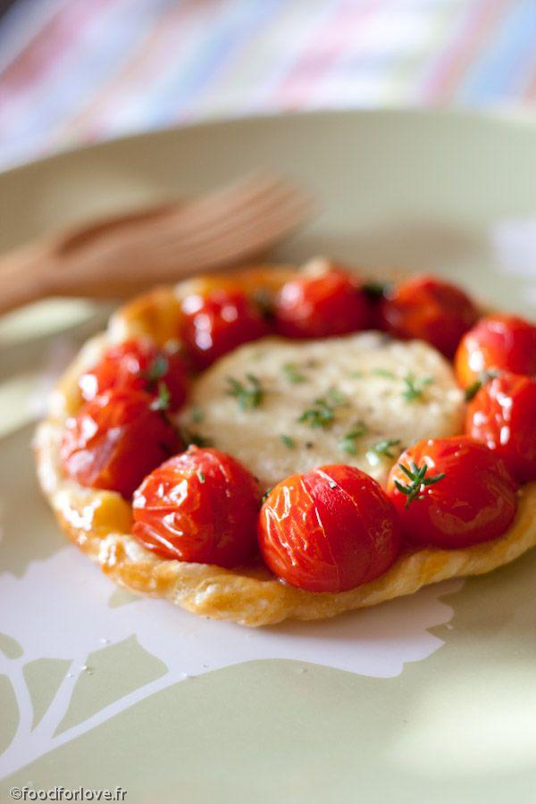 Photo Tartelettes au Rocamadour et Tomates Cerise
