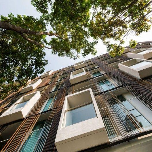 Espectacular fachada con múltiples materiales como acabados