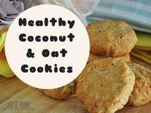 Healthy Coconut & Oat Cookies