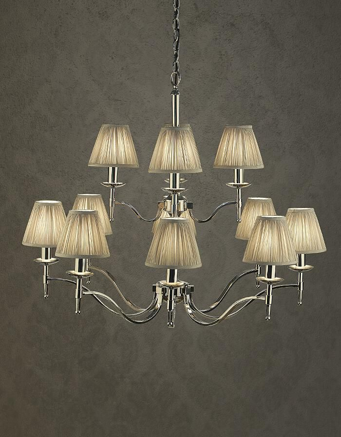 Stanford 12 Light Polished Nickel Chandelier