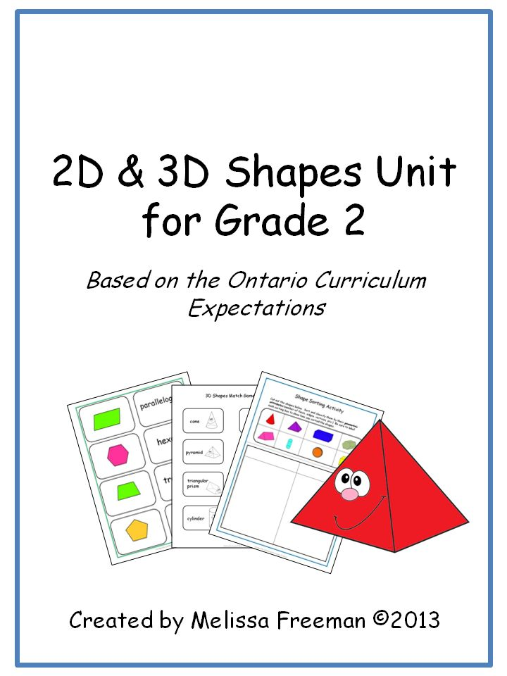This 2D and 3D Shapes Unit for Grade 2 is based on the Ontario Curriculum Expectations. It contains lesson ideas, worksheets, quizzes, and games!
