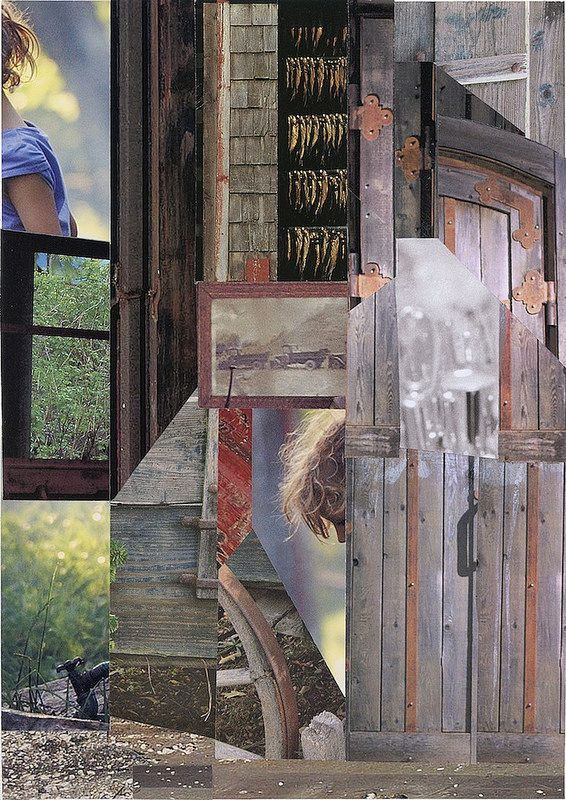 Daddy's House by Arden Riordan. Collage. 2013