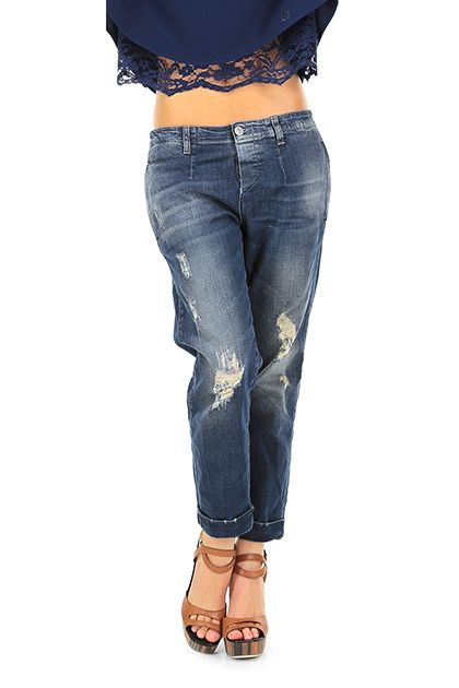 Care Label - Jeans - Abbigliamento - Jeans in cotone  con dettagli consumati sulla lunghezza, tasche alterali ed a filetto sul retro.La nostra modella indossa la taglia /EU 25. - DENIM - € 189.00
