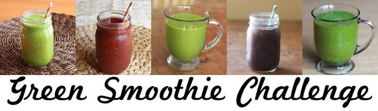 Smoothies with spinachSmoothie Challenges, Food, The Challenges, Green Smoothies, Smoothie Recipes, Drinks, Sounds Yummy, Green Smoothie Recipe, Healthy Smoothie Recipe