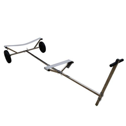 "Stainless Steel Boat Launching Trailer Hand Dolly for Inflatable with 16"" Wheels"