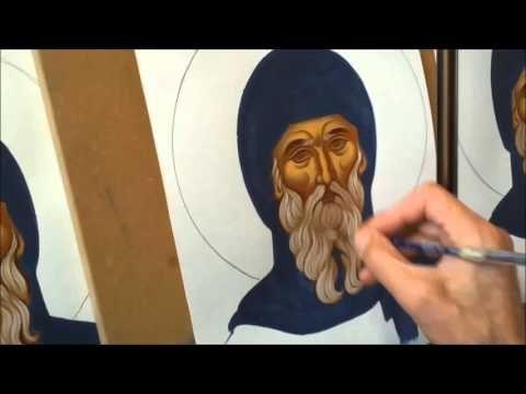 Μαθήματα αγιογραφίας το κεφάλι 3, πρώτο φως - YouTube