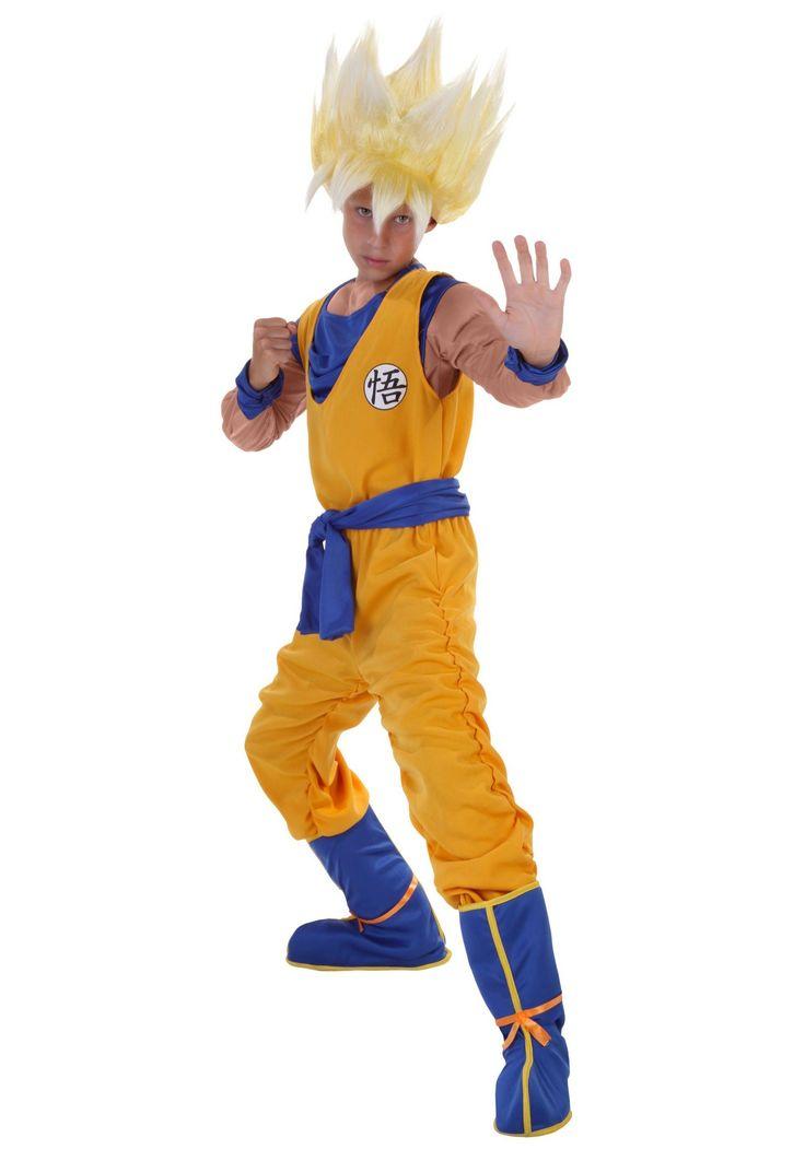 Dragon ball z child anime super saiyan goku costume