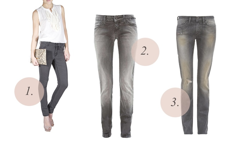 tired of black skinny jeans? > switch to grey! (1.Cheap Monday, 2.Freesoul Glam, 3.Diesel)