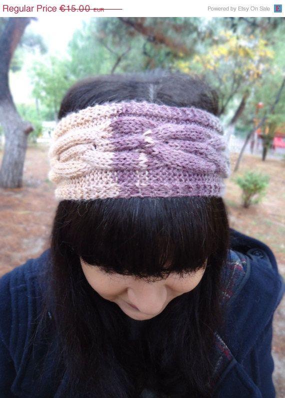 Cable knit wool headband knit womens headbandcable by AlkistiKnits #cableknit #headband #womensaccessories #knitwear #winterheadband