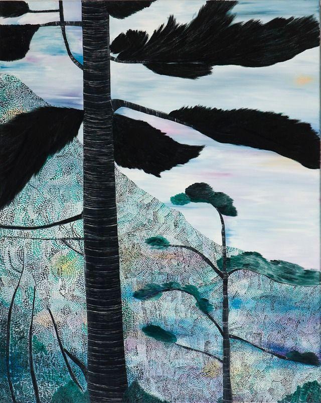 Sally Ross black tree 2011 oil on linen 100 x 80cm | S a l l y R o s s