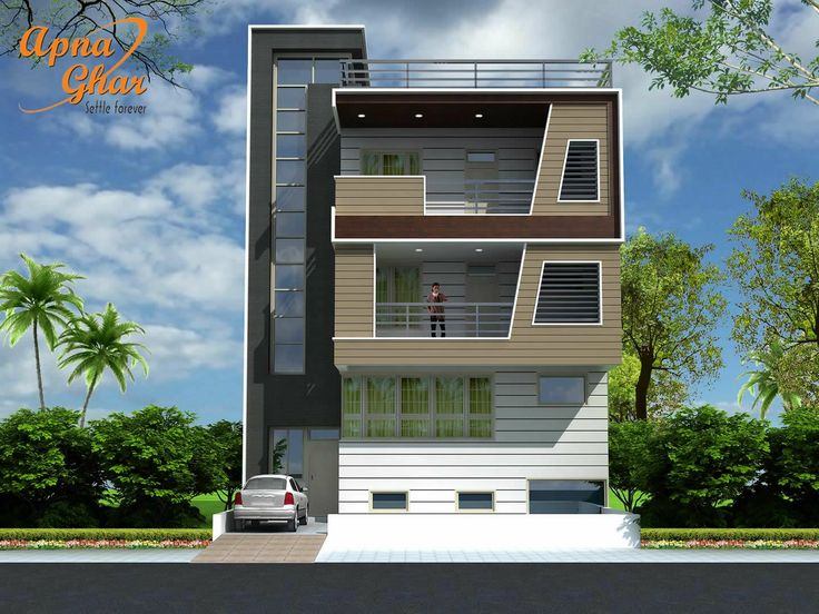 Front Elevation Design For 3bhk : Best triplex house design images on pinterest