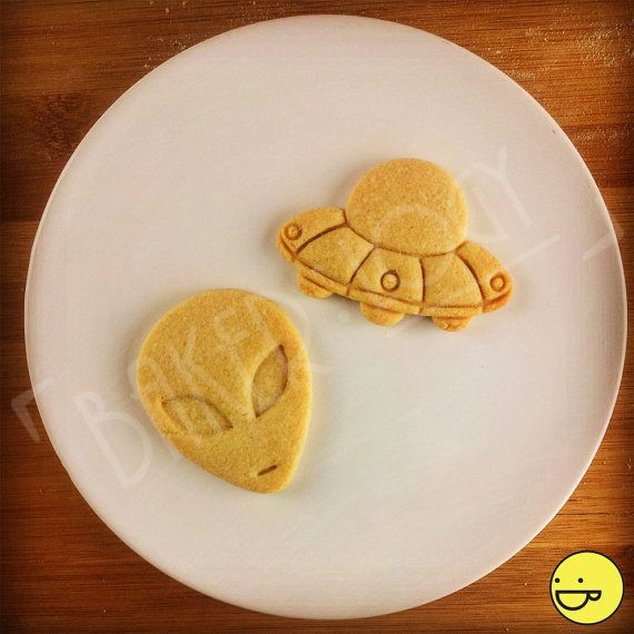 Alien and UFO cookie cutters biscuit dough cutter