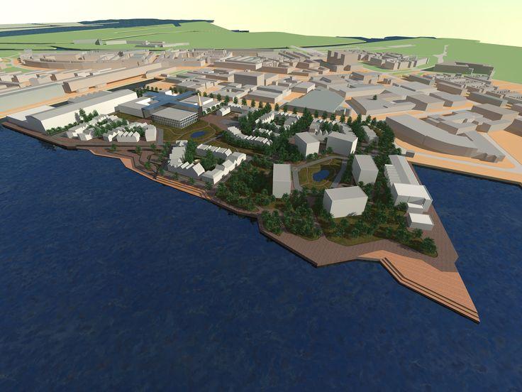 Stedenbouw 3D beeld nieuw ontwerp hamerstraatgebied