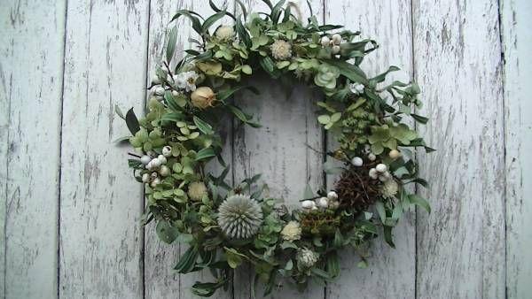 handmadeナチュラルグリーンリース クリスマスリース