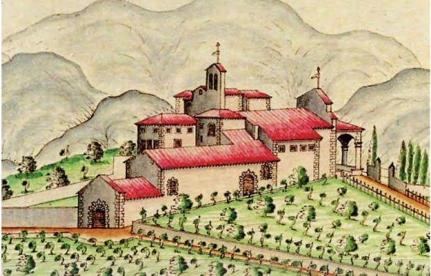 La Fattoria di San Leolino Panzano nel Chianti, raffigurata in un cabreo del…