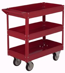 Repurpose an industrial service cart as a baby changing table