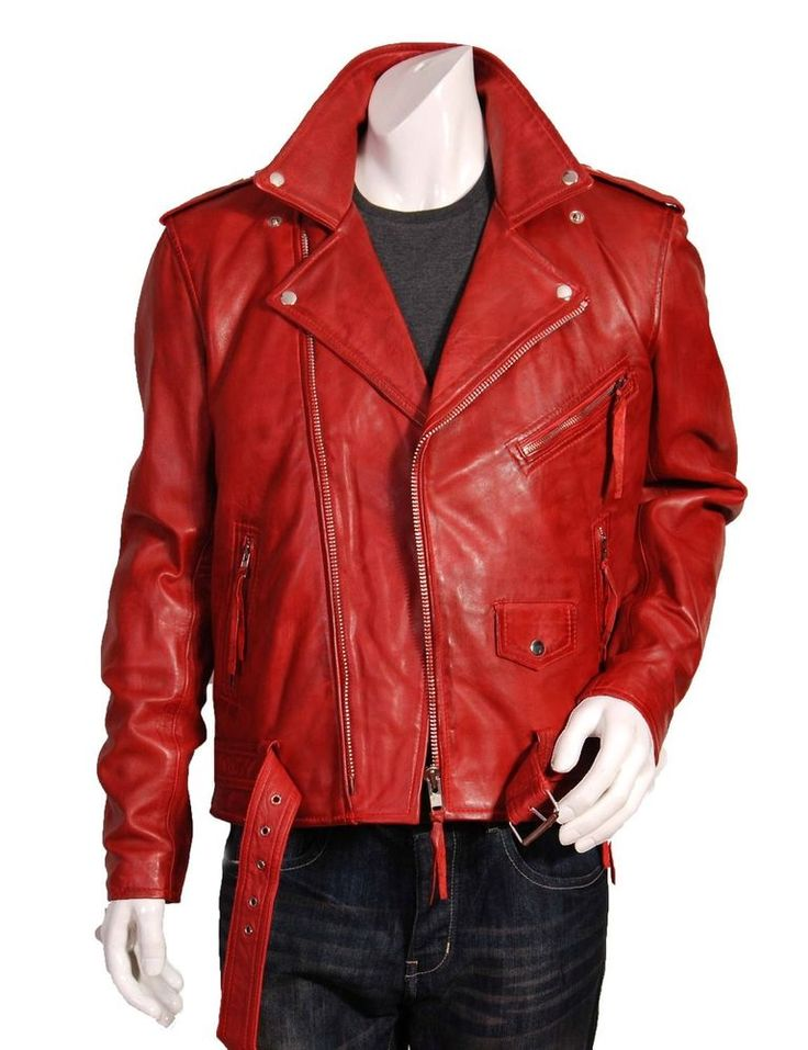 Men's Genuine Lambskin Leather Jacket Black Slim fit Biker Motorcycle Jacket 04 #LeatherLifestyle #Motorcycle