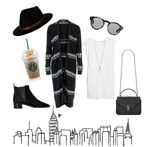 #5 - Casual day in the city. by sannah7 on Polyvore featuring polyvore, fashion, style, MANGO, Topshop, Acne Studios, Yves Saint Laurent, Brixton, Illesteva, YSL, NYC, topshop and acne