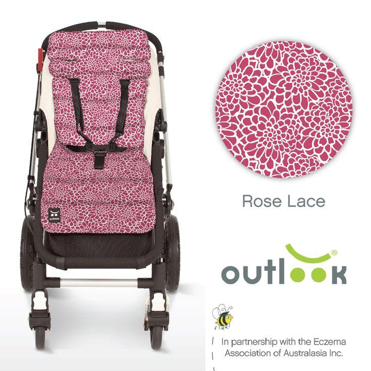 Outlook Cotton Pram Liner Rose Lace