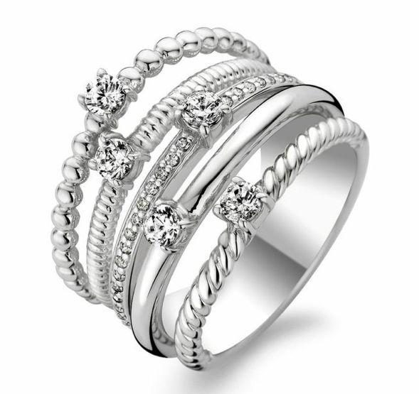 Ti Sento Sterling Silver Ring 1863ZI