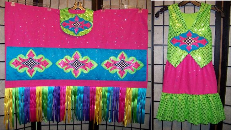 Pink & Green Fancy Shawl Outfit