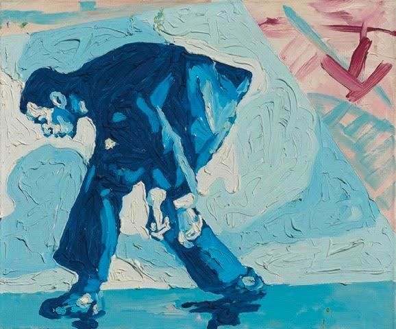Artist of the Day  Martin Kippenberger  Untitled (Self-portrait) 1979 Oil on canvas 19 7/10 × 23 3/5 in 50 × 60 cm