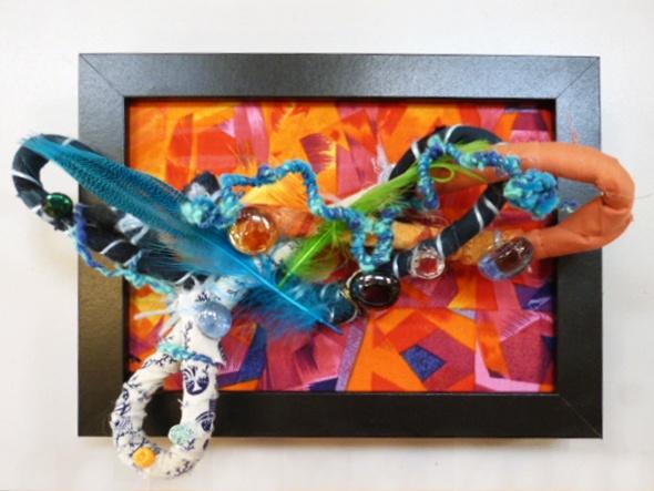 Fibre artwork by Brad McCaull (IDAS artist) created during a 2012 mixed media residency with Ann Haessel.