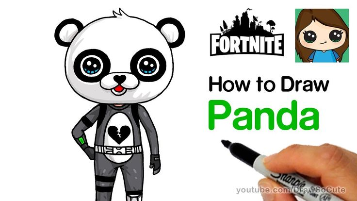 How To Draw Panda Team Leader Easy Fortnite Claire S