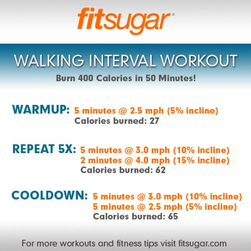 400-Calorie-Burning Walking Interval Workout... Thinking about adding this to my Insanity workout 2X a week.