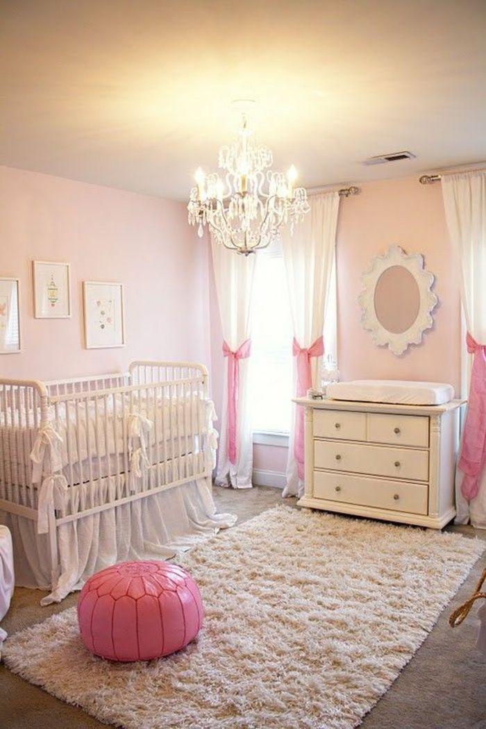 Babyzimmer Mädchen Design Ideen Gestaltungsideen Weiße Möbel Einrichtung  Rosa Deko Hocker | Nurseries Ideas | Pinterest | Baby Zimmer And Nursery Nice Look