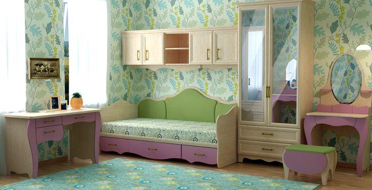 Обои для детской комнаты для девочек: фото в интерьере | Феломена
