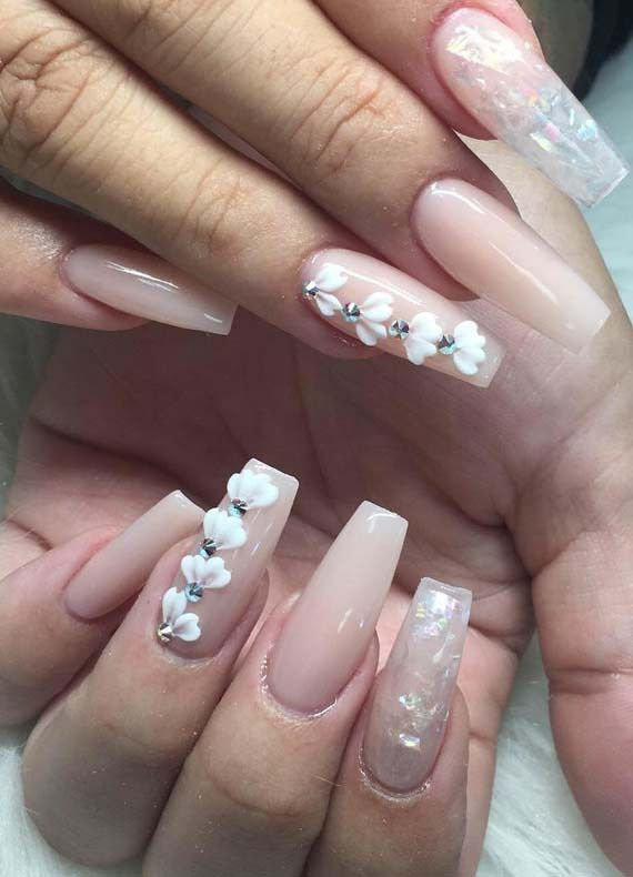 Fantastic Ideas Of Long Nail Arts And Designs For Women Wedding