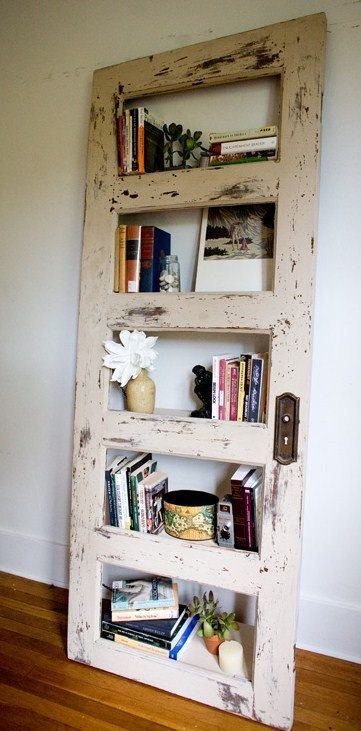 Shelf from old door - http://www.homedecoz.com/home-decor/shelf-from-old-door/