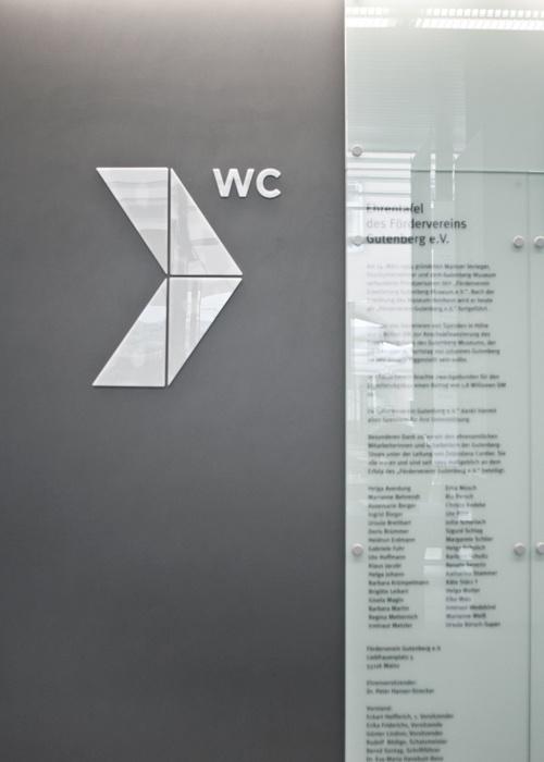 Leitsystem Gutenbergmuseum  ZWEIZEHN