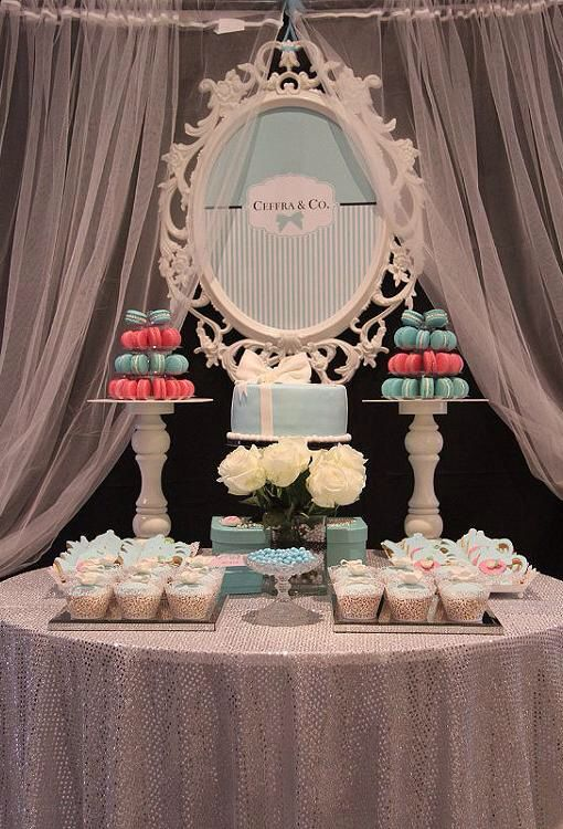 Tiffany and Co Dessert Table