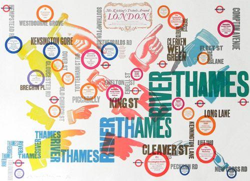 Alan Kitching Typographic maps.