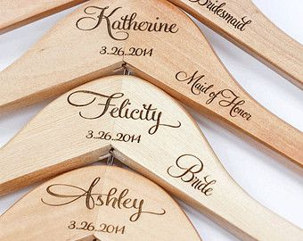 Personalized Bridesmaid Hanger Wooden by WillowGraceBridal
