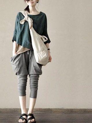 Japanese farmer style. Love the pants!